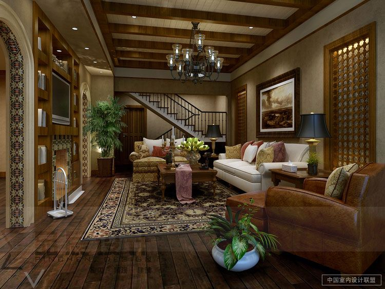 Interior designing drawing rooms computer geek 39 s for Country living room design ideas