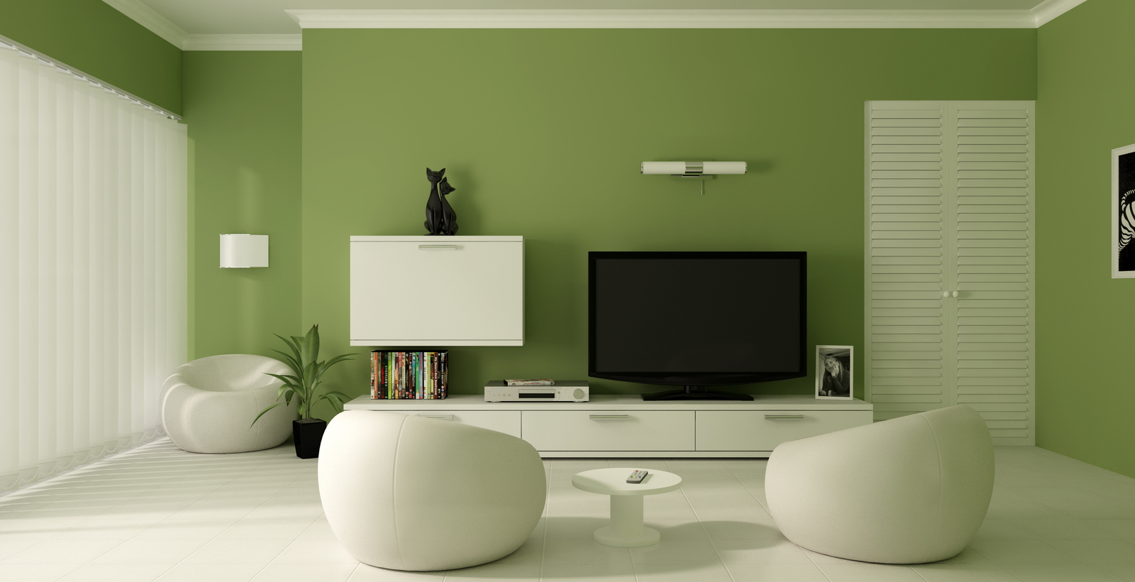 Green Painted Room Delectable Of Green Color Paint Living Room Ideas Pictures
