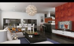 Modern-Living-room-Red-accent-wall-fun-accessories