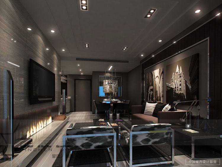 sleek-modern-living-room-masculine-chrome | .:: computer geek\'s ...